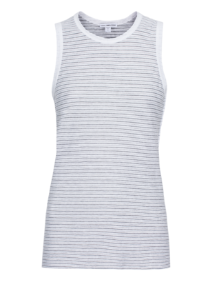 JAMES PERSE Inside Out Tomboy Stripe White