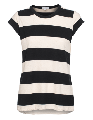 JAMES PERSE Striped Tee Natural Blue
