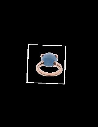 BRONZALLURE Faceted Stone Blue