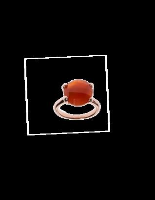 BRONZALLURE Faceted Stone Orange