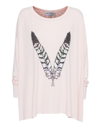 WILDFOX Feather Child Pink Wood