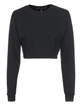 JOAN SMALLS X TRUE RELIGION Fitted Crop Charcoal