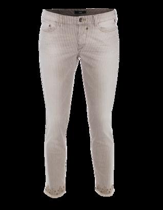 G DESIGN Stripes and Studs Beige White