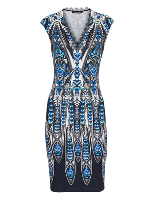 ROBERTO CAVALLI Luxe Feather Lace Blue