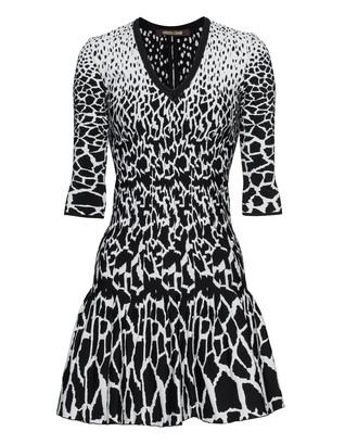 ROBERTO CAVALLI Giraffe Dot Pattern Black White