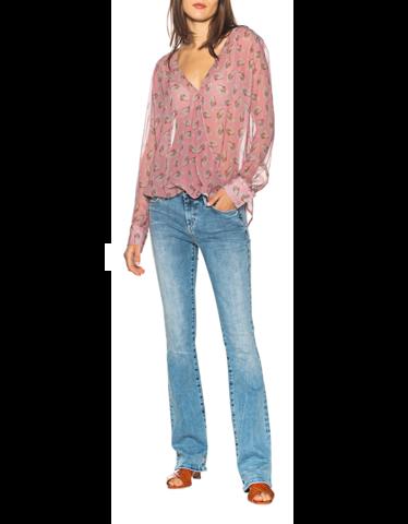 Gemusterte Bluse mit bluse mit Cache-Coeur-Ausschnitt