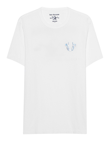 e6c2fee851c38c TRUE RELIGION Holo Silver Puff White T-shirt with hologram print ...