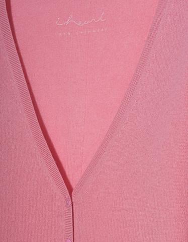 iHEART Elara Kaschmir Cardigan Pink Cardigans 5AjL34cqRS
