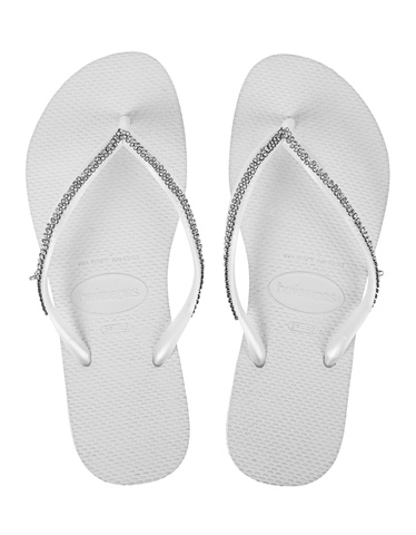 8d7445252d758 HAVAIANAS Slim Crystal White Flip flops with Swarovski facing - Shoes