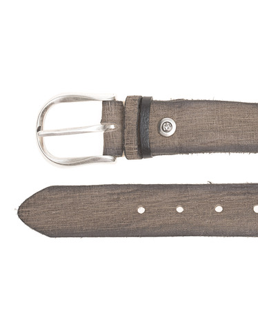 b belt used leather grey leather belt in used look belts