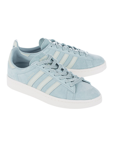 Adidas Originals Campus W Tactile Green Flat Suede Sneakers Sneaker