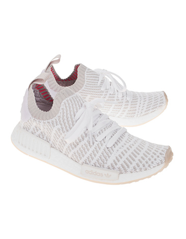 137bfa06336f4 ADIDAS ORIGINALS NMD R1 STLT PK White Mesh-Sneakers - Sneaker