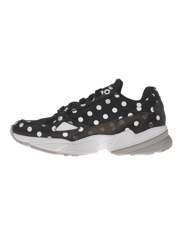 ADIDAS ORIGINALS Falcon W Black Chunky Sneakers with Polka