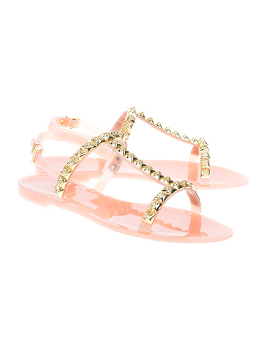 ba349ffefbae STUART WEITZMAN Jelrose Rose Sandals with studs - Shoes