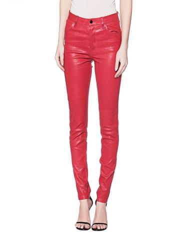 hohe Qualitätsgarantie Kaufen Modern und elegant in der Mode J BRAND Maria High Rise Leather Skinny Red Smooth leather ...
