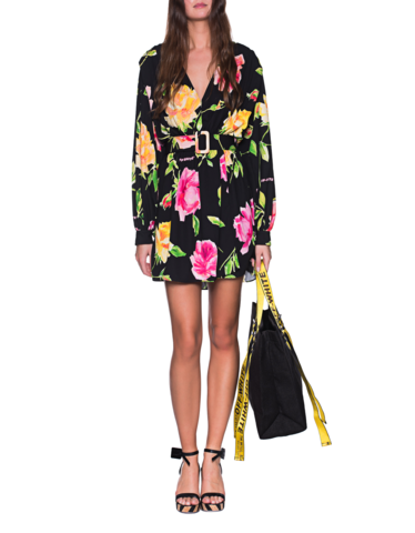 cdd25013533 Off-White c o Virgil Abloh Long-sleeved flower dress