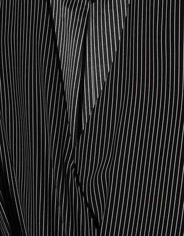 Gestreifte Seiden-Bluse mit Cache-Coeur Ausschnitt