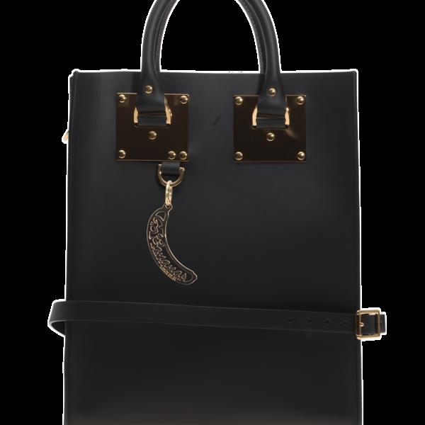 sophie hulme mini albion saddle black tote bag aus leder taschen portemonnaies. Black Bedroom Furniture Sets. Home Design Ideas