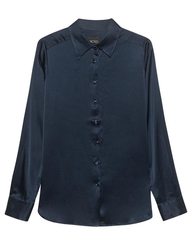 Silk Collar Marine Blue