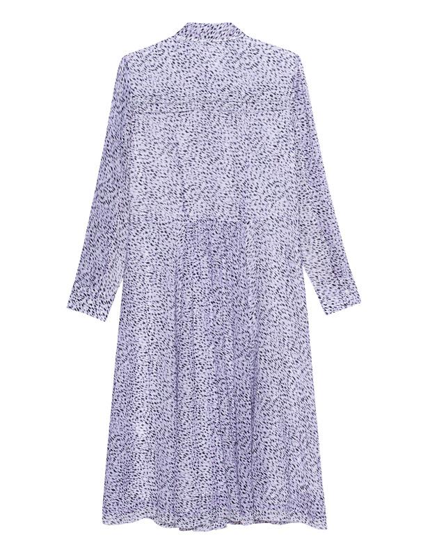 LALA BERLIN Donia Purple Hemdblusenkleid im Leo-Design ...