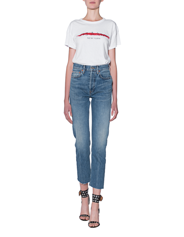 Cropped High-Rise Straight-Leg Jeans Re/Done 5RsSibq