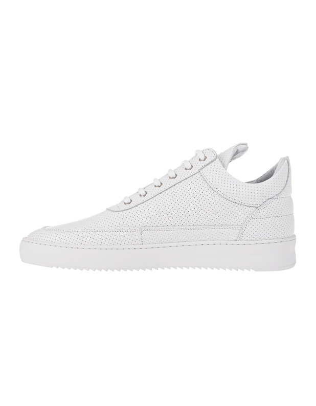 filling pieces low top ripple nappa perforated white. Black Bedroom Furniture Sets. Home Design Ideas
