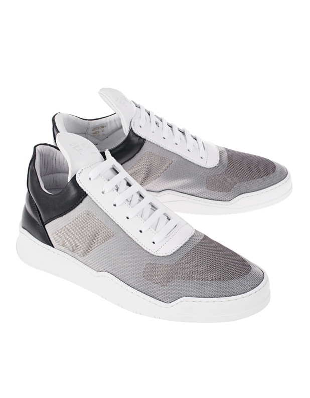 filling pieces low mesh grey leder sneaker mit mesh. Black Bedroom Furniture Sets. Home Design Ideas