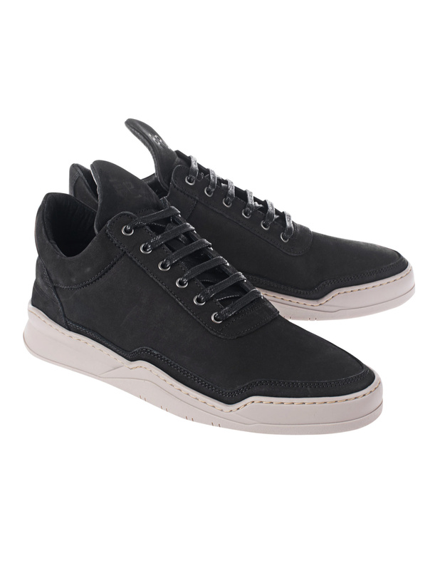 filling pieces low 2tone black flache leder sneaker sneakers. Black Bedroom Furniture Sets. Home Design Ideas