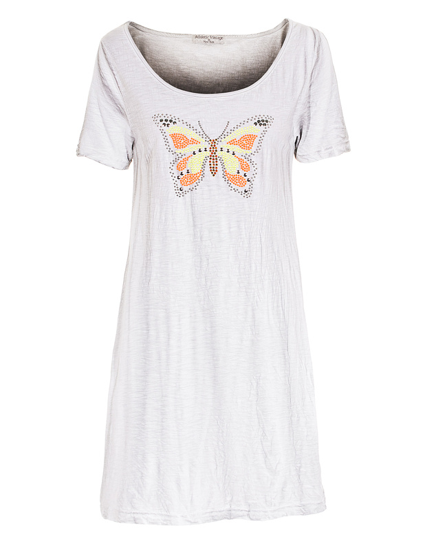ATHLETIC VINTAGE NY Sparkling Butterfly Light Grey