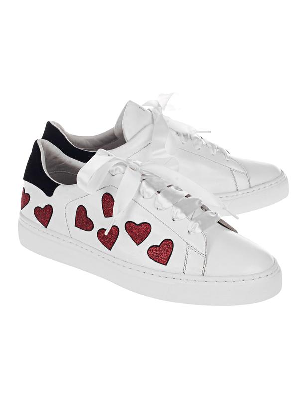 steffen schraut 37 love street white sneaker mit herzen. Black Bedroom Furniture Sets. Home Design Ideas