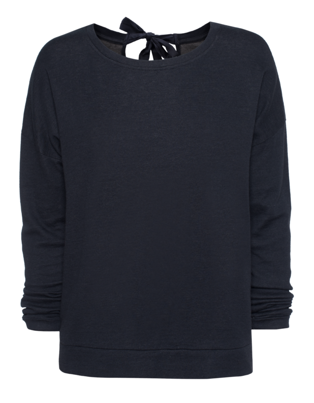 Back Bow Sweat Navy