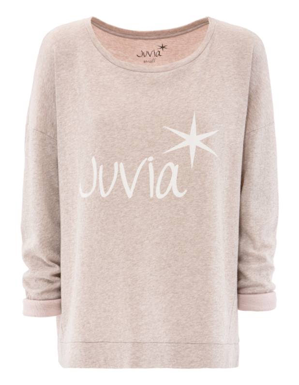 Label Loose Sweat Heather Beige