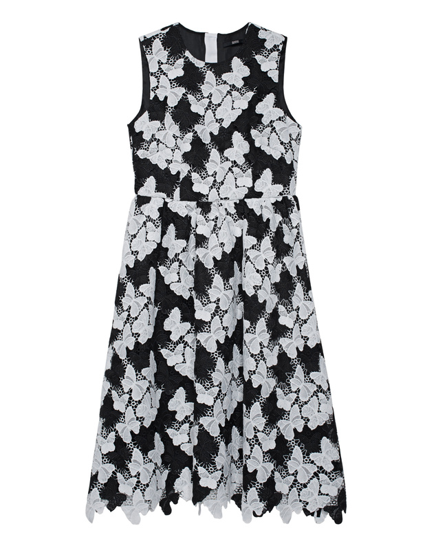 Butterfly Lace Black White SLY 010