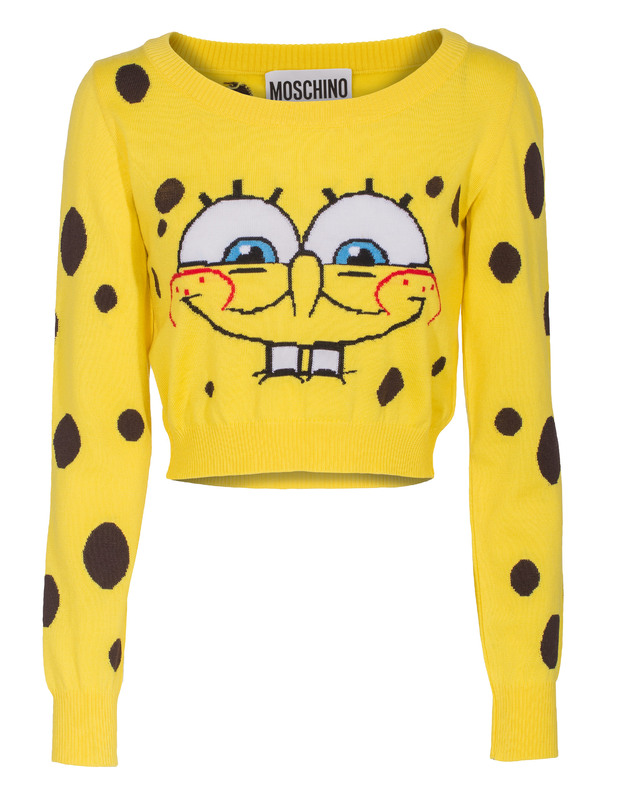 MOSCHINO Spongebob Crop Yellow