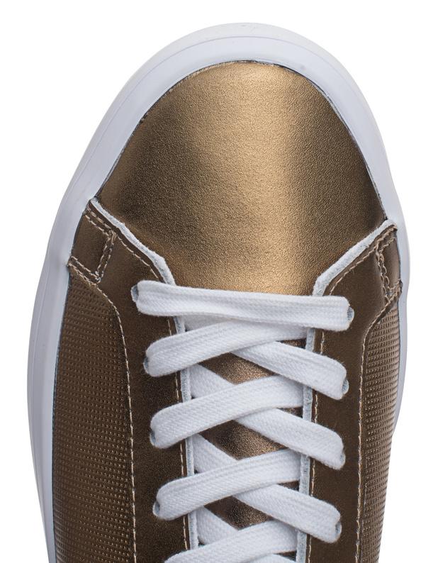 official photos 3aff1 2635c ADIDAS ORIGINALSCourt Vantage Copper Metallic  Flat leather sneakers