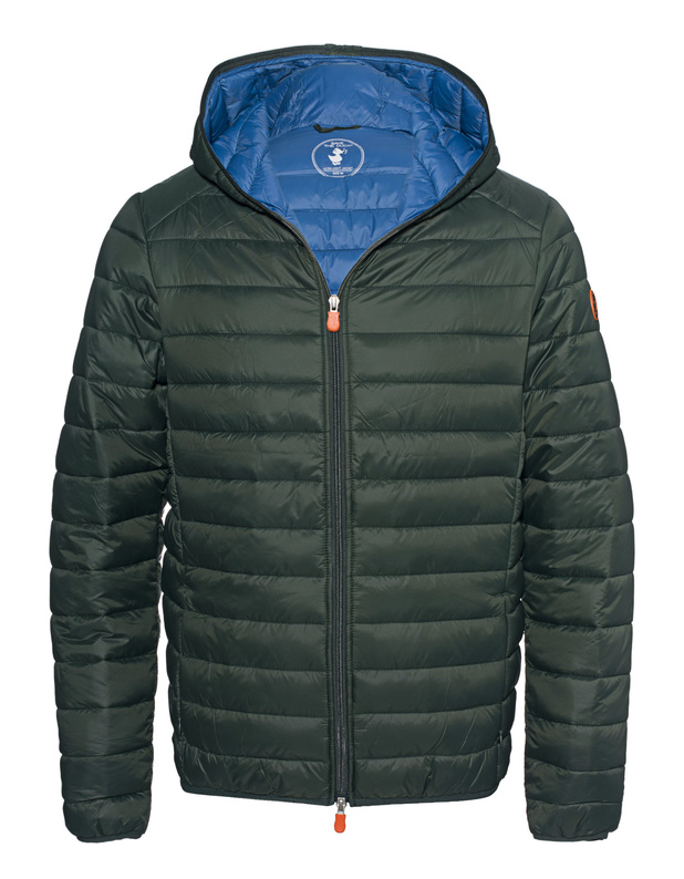 SAVE THE DUCKGiga Hood Forest Green // Lightweight hooded quilted jacket