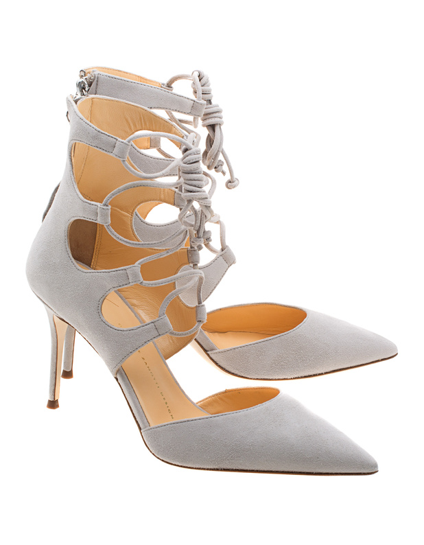 5cbd898a004 GIUSEPPE ZANOTTI Lucrezia Camascio Eolo Suede leather stiletto heels ...