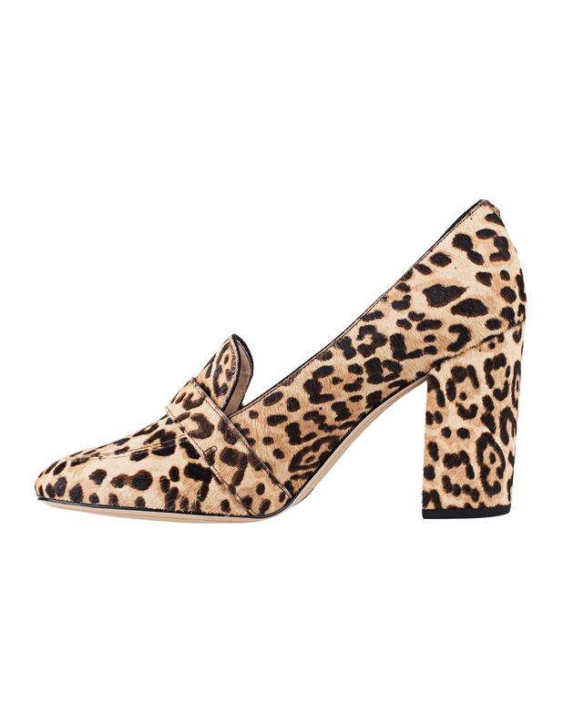 sam edelman ellison leo loafer pumps im leo look block heels. Black Bedroom Furniture Sets. Home Design Ideas