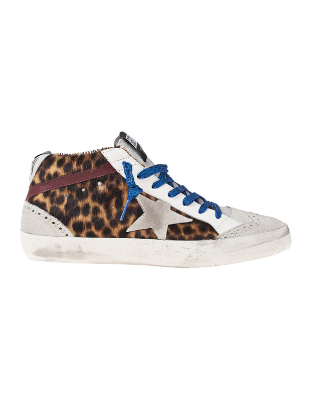 0bbf5e75d2f3 GOLDEN GOOSE DELUXE BRANDMid Star Spotted Horsy Leo    Sneaker with leopard  design