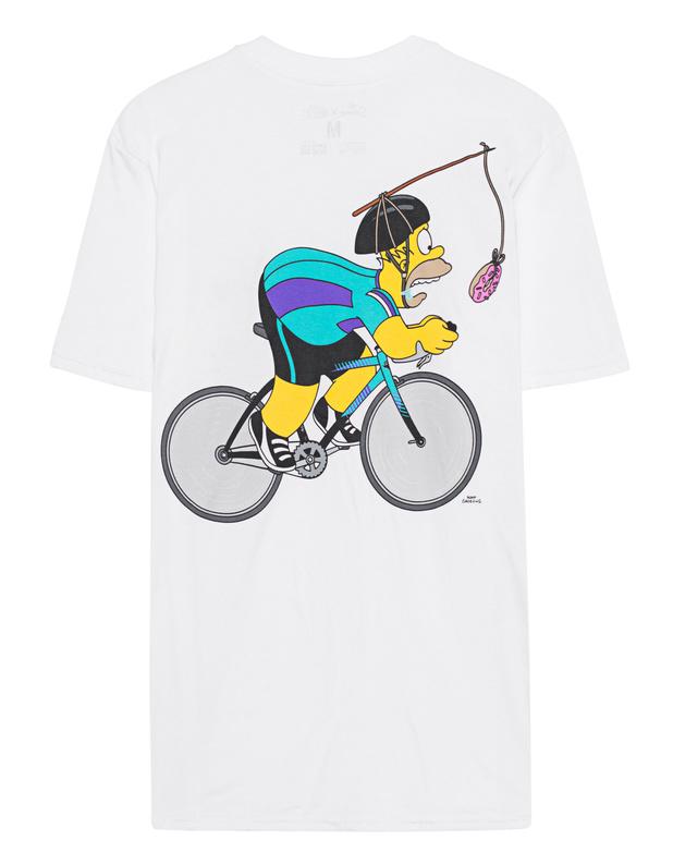 State Bicycle Co. Homer White Baumwoll T-shirt mit Print - Kurzarm ... 64beb9679