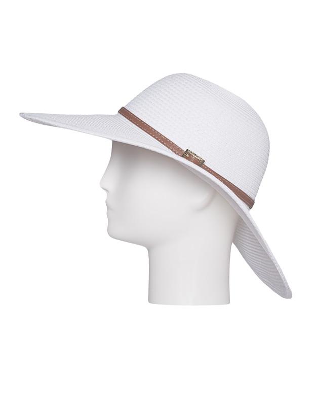 Melissa Odabash Jemima White Fedora hat with leather band - Beanies ... 68cfa8f009f8