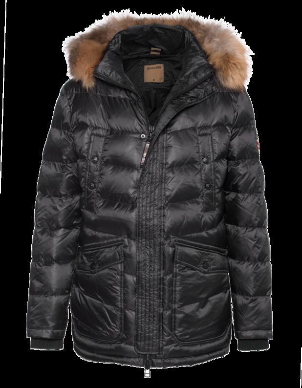 Down Jacket Raccoon Black