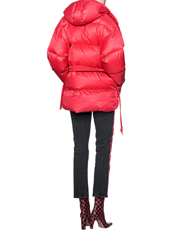 IENKI IENKIBelted Puffer Red // Waisted down jacket