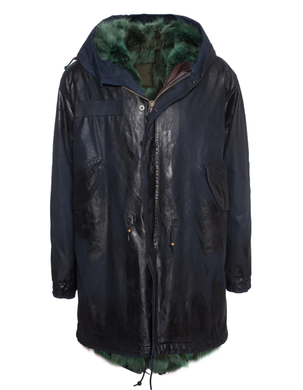 Waxed Parka Patch Coyote Blue