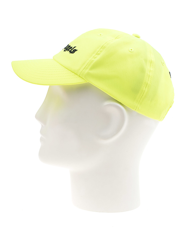 021cf6462a6 Palm Angels Logo Neon Yellow Cap with label embroidery - Beanies ...
