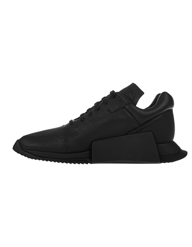 rick owens x adidas ro level runner low ii black leder sneakers sneakers. Black Bedroom Furniture Sets. Home Design Ideas