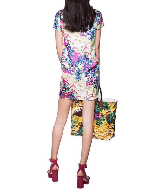 DSQUARED2 Hawaii Print Multicolor Patterned silk dress - Dresses