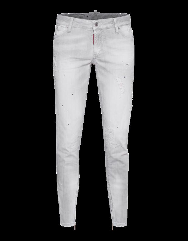Cool Girl Jean Used Zip Light Grey