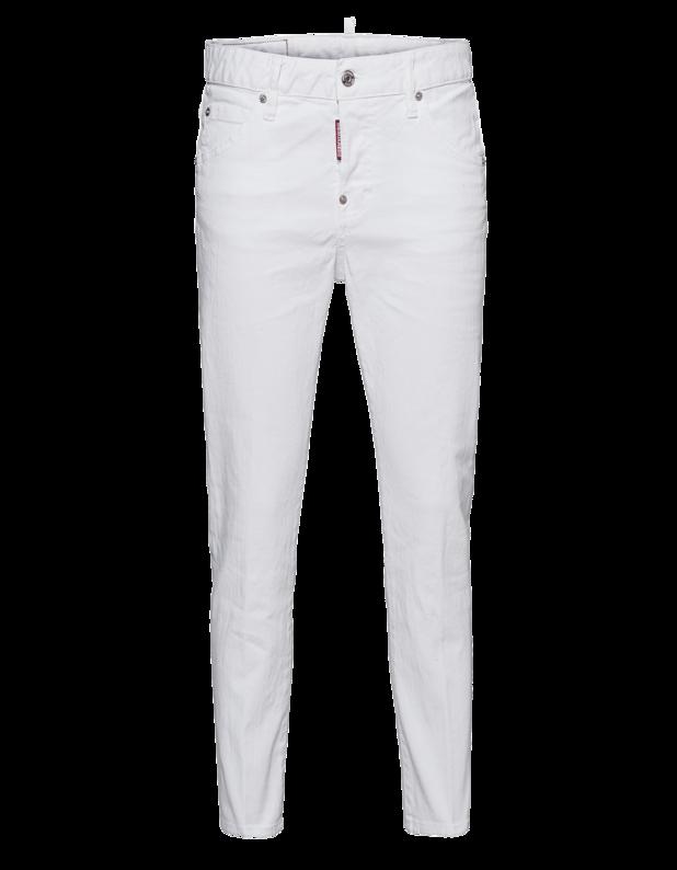 Cool Girl Cropped Jean Long Crotch White