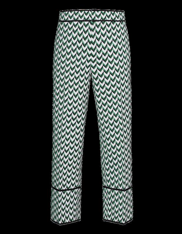 Artikel klicken und genauer betrachten! - Culotte mit Stickerei Von lässig und cool bis hin zu elegant und sexy - mit DSquared2 ist die Frau von Welt immer gut gekleidet!  Gerade geschnittene weiße Culotte mit grün-schwarzer Muster-Stickerei, Hakenverschluss, Eingrifftaschen und schwarzen Paspeln.  Ein trendiges Statement-Piece! | im Online Shop kaufen
